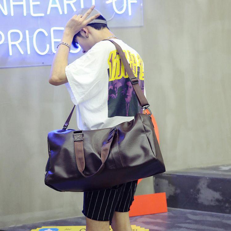 短途旅行包女手提简约百搭时尚防水行李旅游健身男出差斜跨包