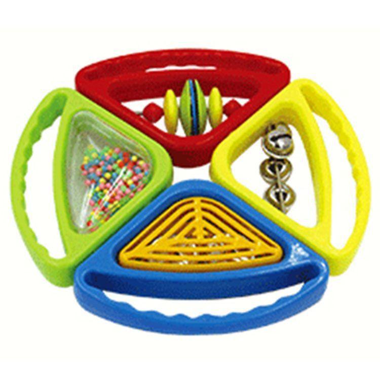 四组合摇铃 四音手拿塑料手摇铃 组合摇铃 环保摇铃