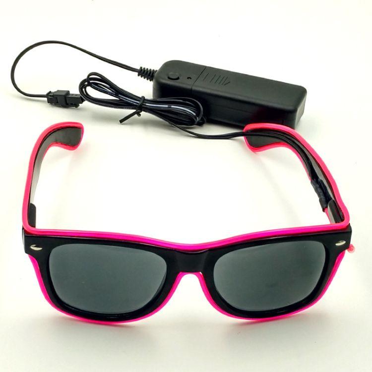 无线发光眼镜可充电 欧美酒会party冷光眼镜夜光LED眼镜 荧光眼镜