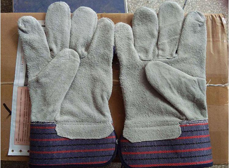 厂家直销 牛二层全掌劳保手套 耐磨防滑 品质保证 量大从优