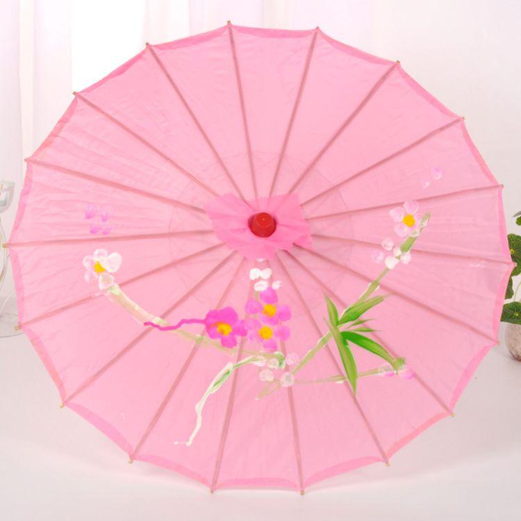 56CM装饰吊顶伞古装油纸伞古典舞蹈工艺绸布伞影楼摄影演出道具伞