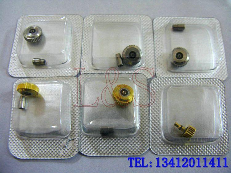 钟表维修配件 1853力洛克手表把头 T41/T006表冠 把旳 调时间按钮