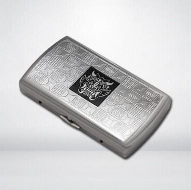 双枪品牌纯铜电镀蚀刻10支装便携式烟盒3款可选礼盒包装