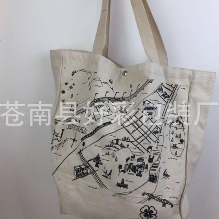 厂家专业定做 创意环保全棉帆布袋 手提广告购物棉布袋 可印LOGO