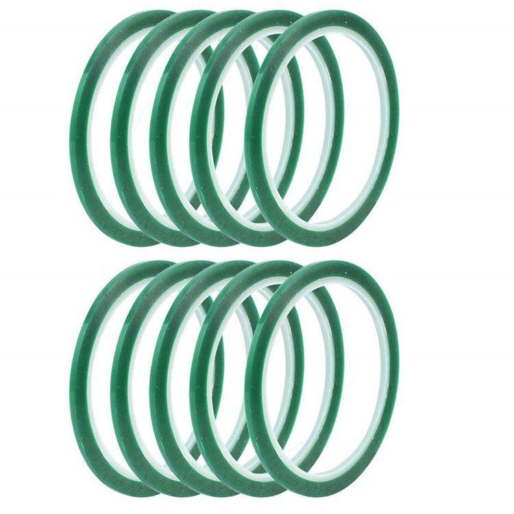 防火pet绿色高温透明冰箱胶带 单面pet 绿色终止胶带