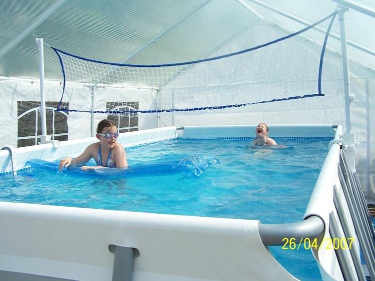 超大折叠游泳池 方形支架游泳池 儿童管架家庭框架戏水池28352