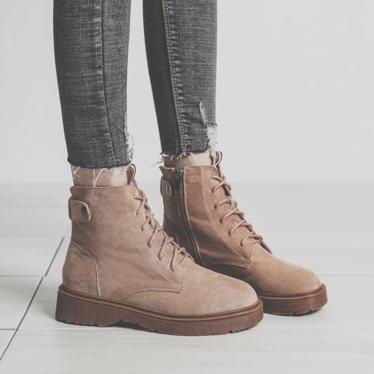 HH-1chic马丁靴女短筒靴秋冬季2018新款复古风学生韩版时尚单靴