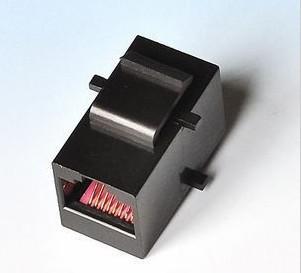 黑色镀金RJ45网线连接器 网络双通 模块式直通头对接头