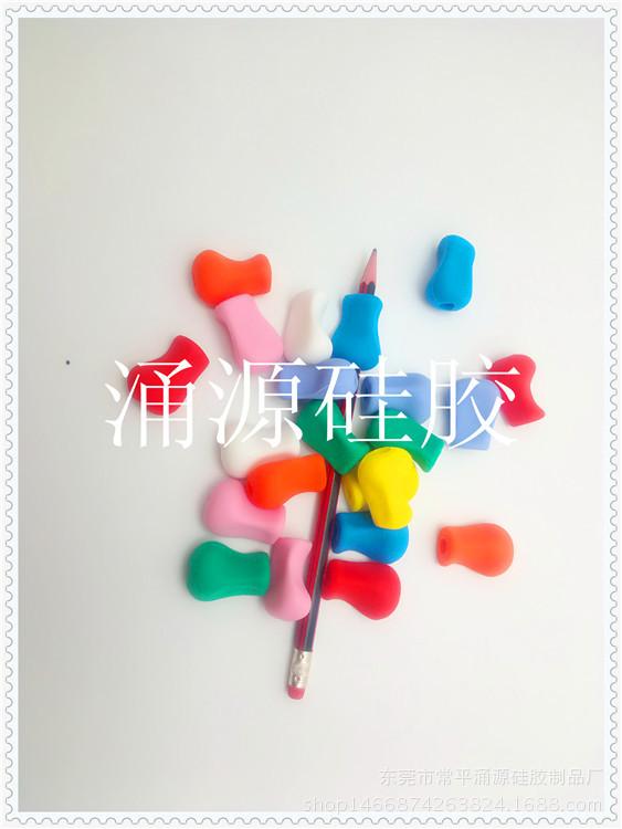 厂家定制创意硅胶握笔器练字不累儿童握笔器糖果色硅胶握笔器