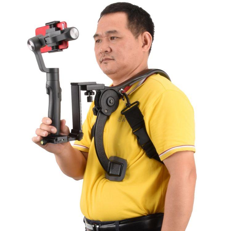 轻装时代Q440A手持微单单反相机肩托架 抖音户外手机拍摄稳定器