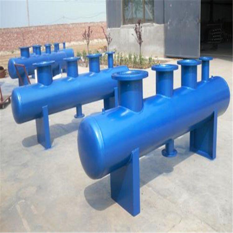 厂家供应中央空调分集水器 碳钢集水器 暖通集分水器碳钢分集水器