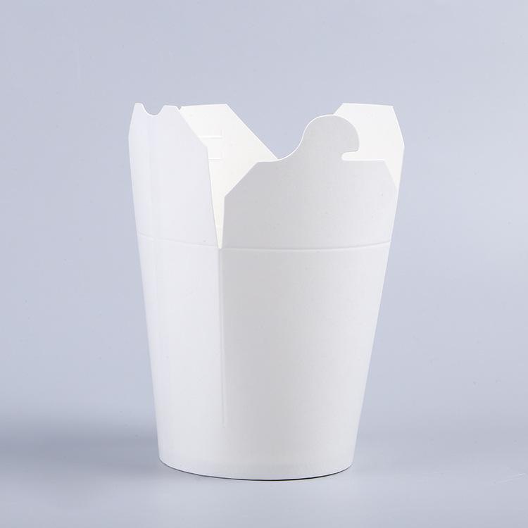 厂家一次性面条桶 16oz意面小吃外带打包盒鸡米花包装盒LOGO定制