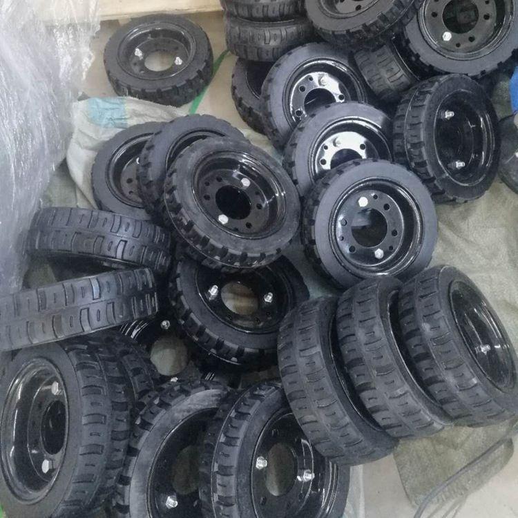 厂家批发 耐磨实心轮胎 手推车工矿橡胶轮胎 工程机械轮胎