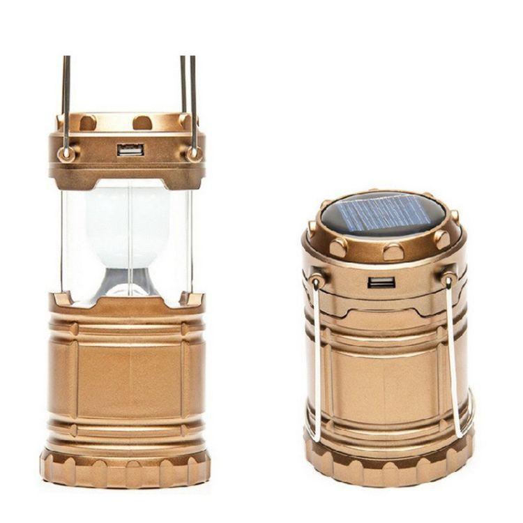 户外露营帐篷灯LED应急灯拉野营灯小马灯营地灯太阳能充电手提灯