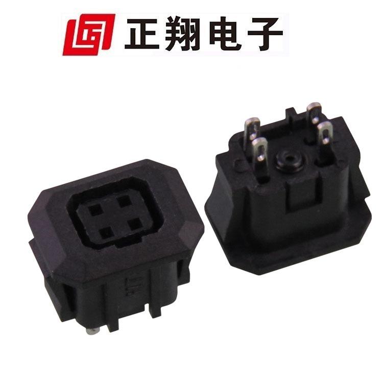 供应方4P插座 自动光圈母座 四孔全铜环保料光圈母座 安防设备用