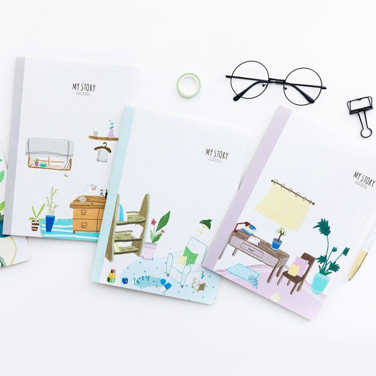 余人车线本厂家 32K韩国创意学生笔记本子a5小清新记事日记本批发