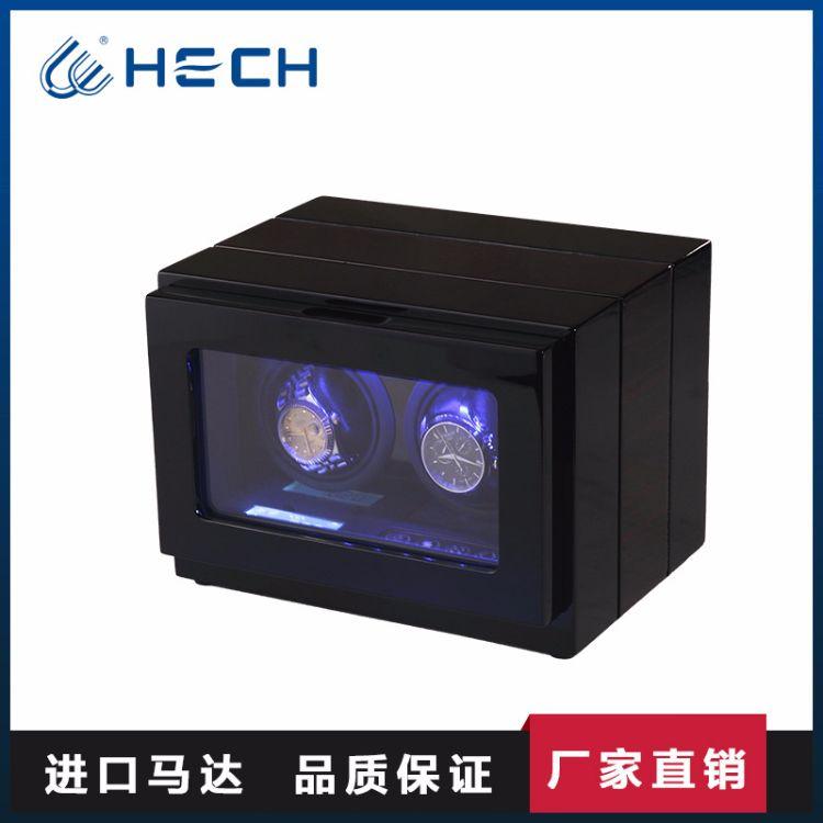 现货批发摇表器超静音马达带灯高光烤漆机械手表上链盒进口首饰盒