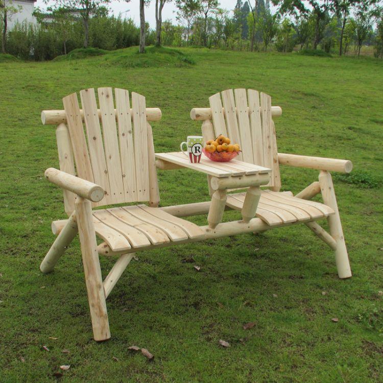 批发别墅美式户外田园创意休闲木椅 庭院阳台商场实木靠背椅