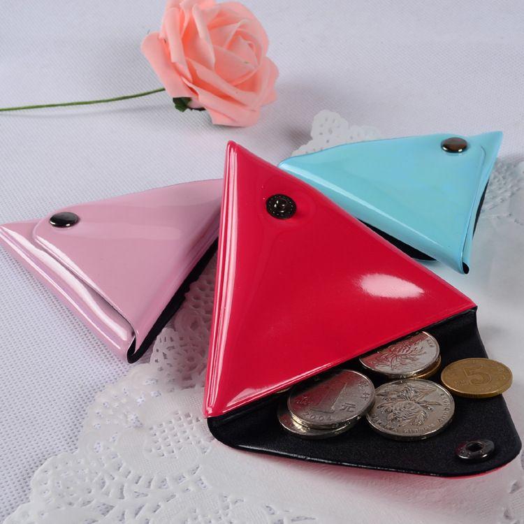 现货PVC三角形零钱包PVC电压卡套可定制迷你耳机收纳包可定制