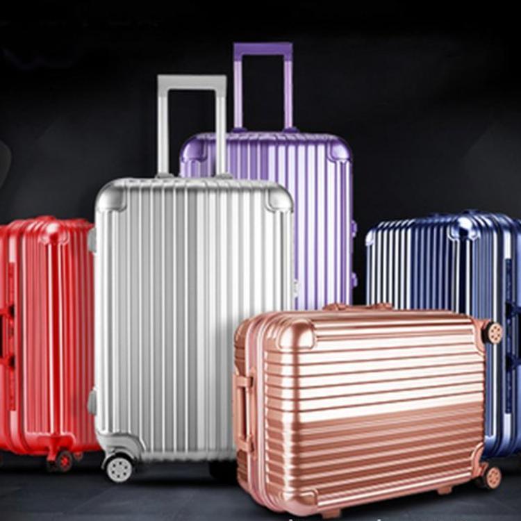 铝框拉杆箱万向轮玫瑰金旅行箱24行李箱男学生密码箱登机箱女28寸