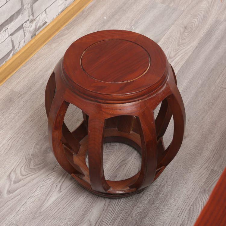 厂家供应实木圆腰鼓凳 古典中式矮凳实木古筝凳 实木古筝凳批发
