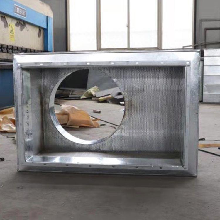 德州定制风机消声器 镀锌板消声静压箱风管消音箱 静压箱厂家