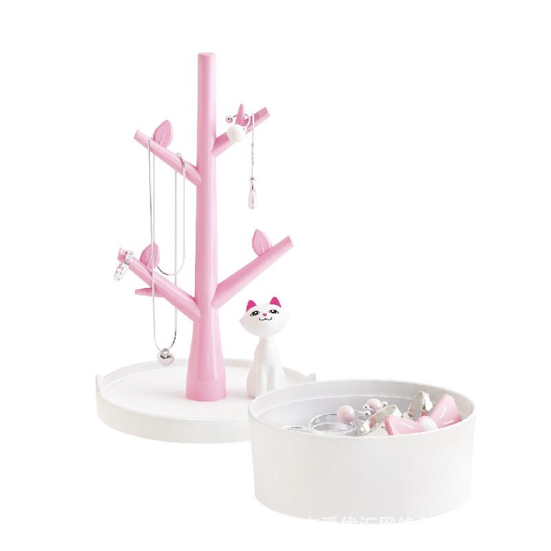 创意可爱少女公主首饰架树形卧室梳妆台饰品手链吊坠收纳架塑料