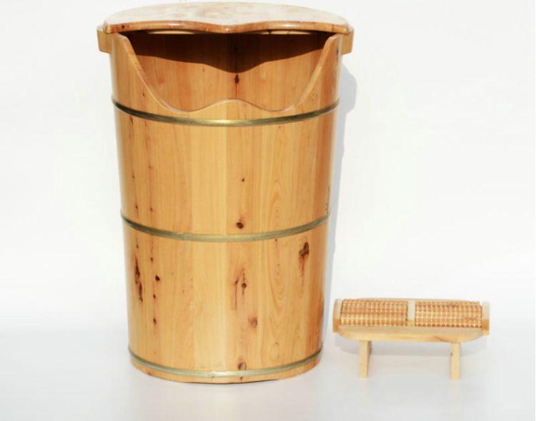 60型单边熏蒸桶 实木 香柏木浴足桶 红梅家具 厂家批发直销 成都