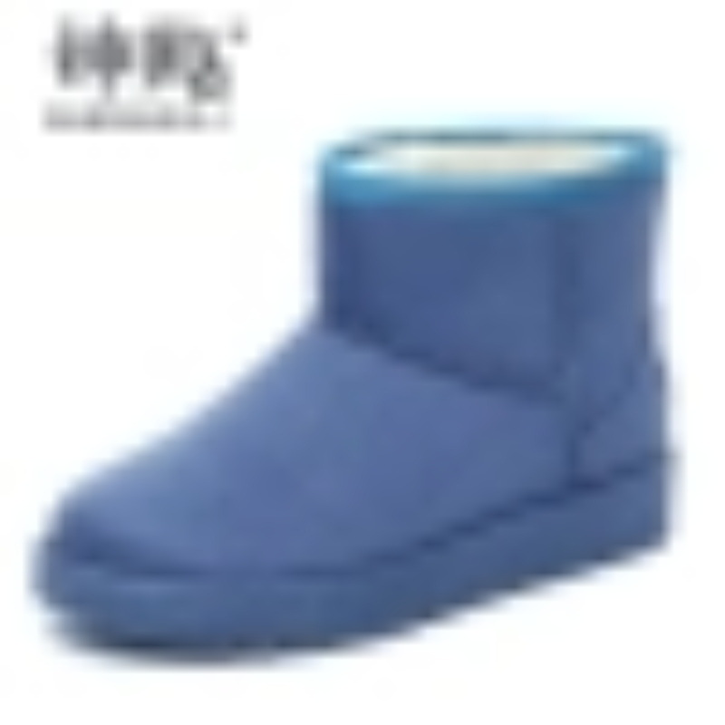 雪地靴女短筒2018学生平底加绒女冬季加厚保暖面包鞋棉鞋女雪地棉