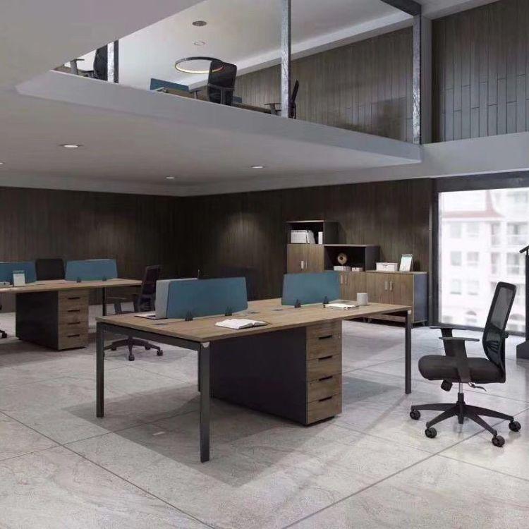 上海四人办公桌 简约现代工程款职员办公桌 员工四人位 工厂自营