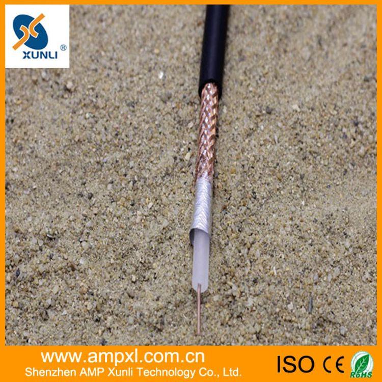安普兴利25年优质生产75-5全铜实芯同轴电缆足芯足米 厂家直销