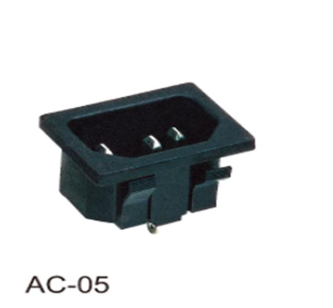厂家直销 AC品字电源插座 三芯插座 电饭锅机箱电源插座