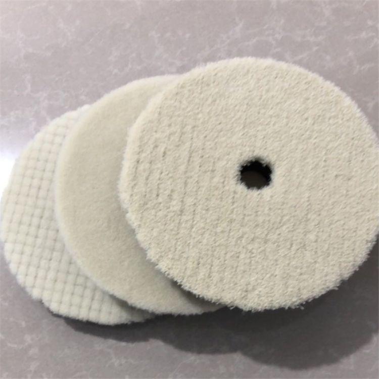 羊毛盘日式抛光 汽车美容盘6寸斜边羊毛盘/短毛羊毛盘 羊毛抛光盘
