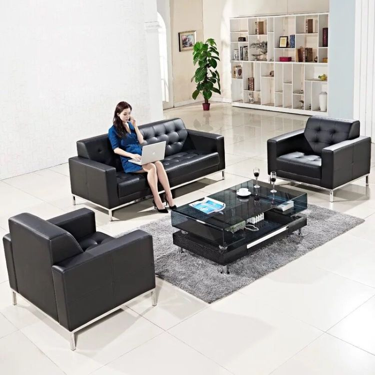 办公沙发接待会客现代简约商务老板办公室沙发 碧江家具