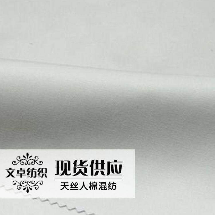 天丝人棉混纺绉布 巴厘纱平纹混纺纱 人棉天丝斜纹面料