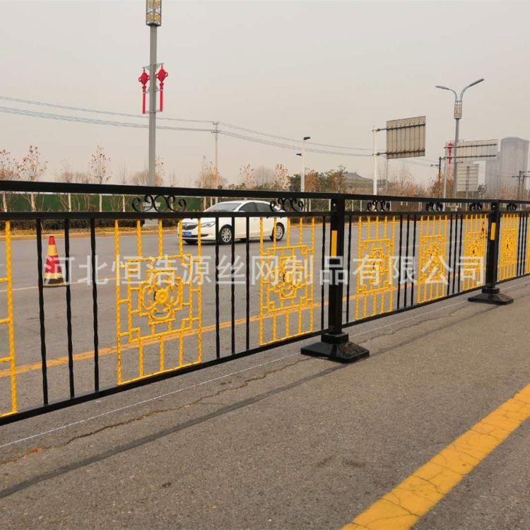 恒浩源 定弧形花式道路文化隔离栏杆 异型公路防撞护栏 异型景区文化护栏