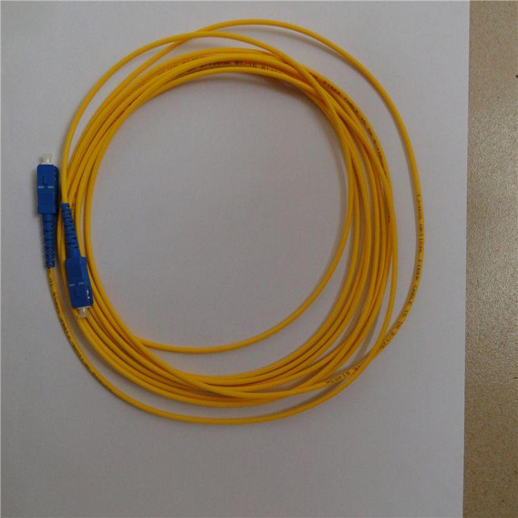 供应 耦合跳线单模光纤跳线尾纤方头转圆拧电信级黄色