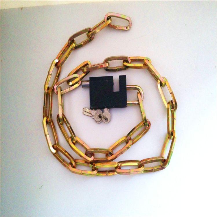 【热卖】温州摩托车U型锁 原子钛金挂锁球形锁 80锁头8*120链条锁