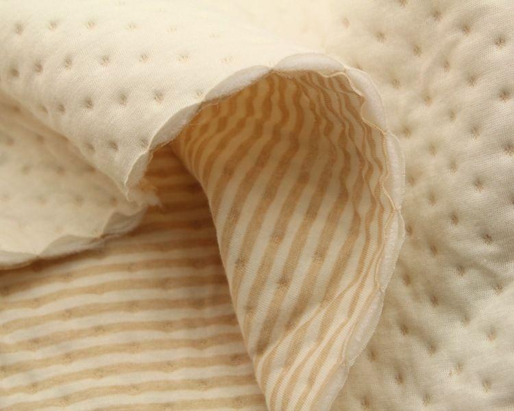 批发彩棉纯棉雪花空气层夹棉加厚婴幼儿服装床品面料现货直销