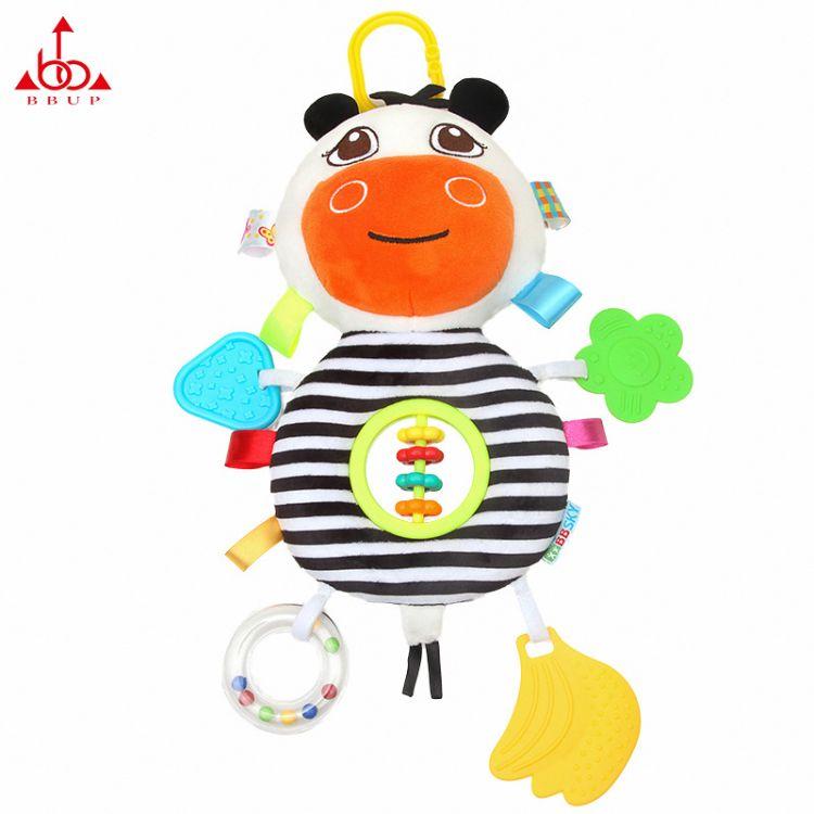 BBUP卡通多功能婴儿车挂床挂可爱牛算盘宝宝毛绒玩具厂家现货批发
