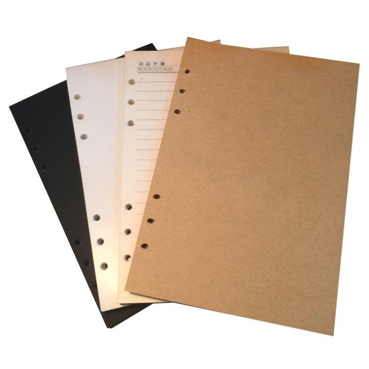 A5A6笔记本替芯活页本牛皮纸横线白纸硬卡纸内页记事本手账本内芯