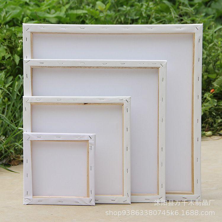 万千油画框 棉布油画板 美术练习用品 正方形画框批发厂家