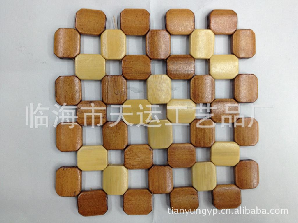 厂家供应正品天运牌2元-9元产品碗垫杯垫竹垫四方8角系列竹餐垫