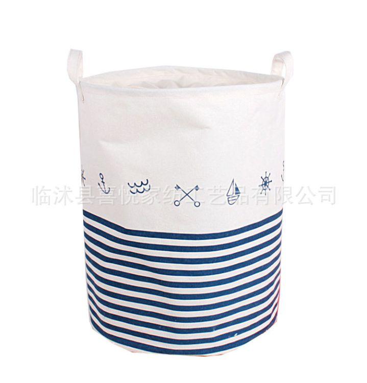 厂家直销多功能棉麻棉布收纳脏衣篮玩具收纳