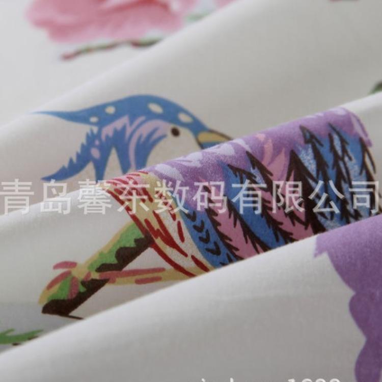 2017新款原单品质布料 纯棉长绒棉贡缎四件套外贸 床品家纺面料