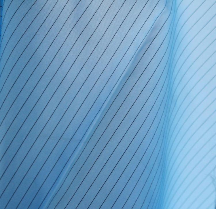 现货供应 75D*75D条纹防静电布料,克重90克每平方米