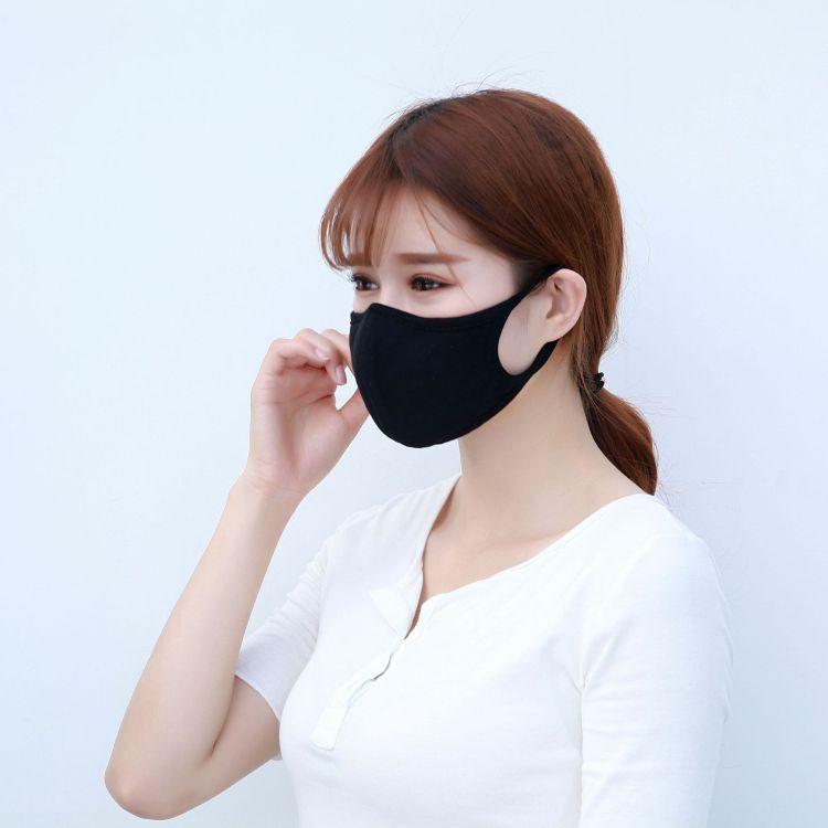 一件代发 纯棉口罩女防尘防晒透气黑色男潮款个性韩版可清洗易呼