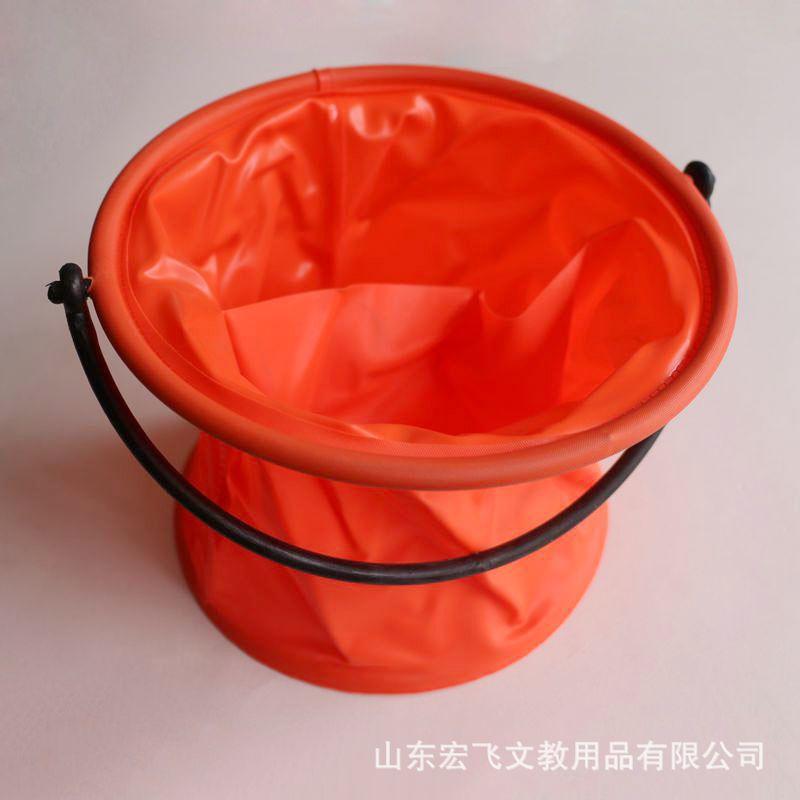 大号折叠隔层洗笔水桶 美术绘画水彩水粉塑胶伸缩涮笔筒