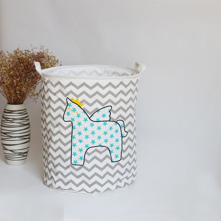 厂家直销棉麻布艺收纳桶脏衣桶大号洗衣桶可折叠储物篮玩具收纳箱
