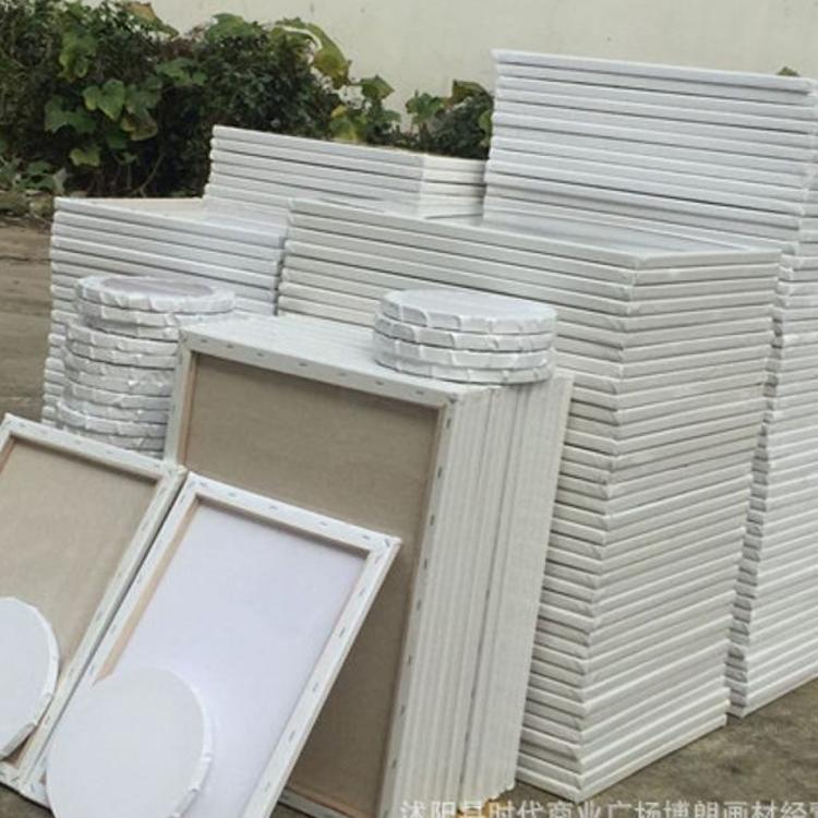 厂家批发画材画框油画框纯棉画布细亚麻混纺画布实木质量保证定制